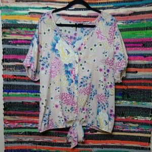 New Directions Floral Blouse